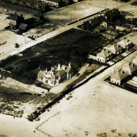 Aerial view of Holden Road and Leopold Road