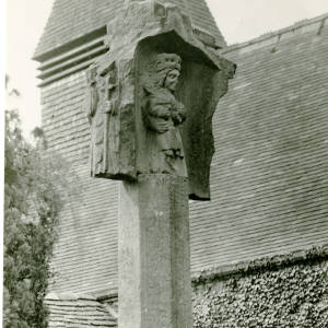 Archbishop and Virgin, Putley Cross, Herefordshire, 1916