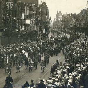 The Grand March Past, Peace celebrations in Reading, 1919
