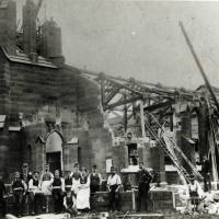 Old Christ Church being demolished in 1899.
