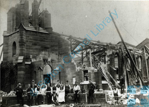 Christ Church being demolished in 1899.