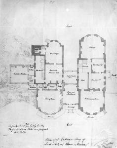 Merton Place: Thomas Chawnor's plan for the Ground floor