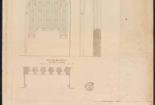 Drawings of Ottery Saint Mary and Wembury Church