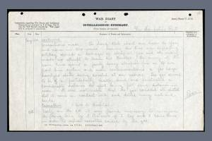 War Diary for 2nd Battalion, Hampshire Regiment, Page 2