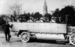 Charabanc  near St. Mary's Church, Wimbledon