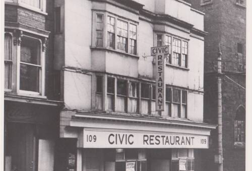 Civic Restaurant, photograph, c1984, Exeter