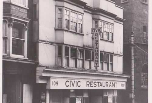 Civic Restaurant, photograph, c1984, Exeter