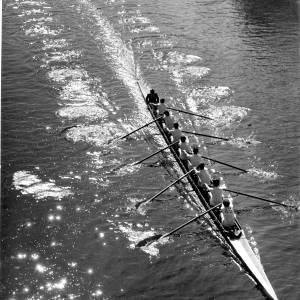 Hereford Rowing Club train on the river