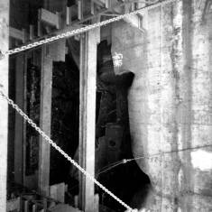 Unknown ship in dry dock in Readheads