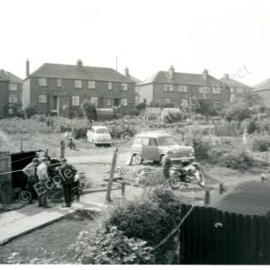 Blacksmith Lane Grenoside, rear view, showing the houses on Main Street