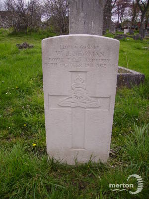 Gravestone of William J Newman