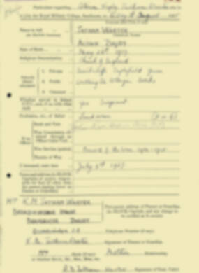RMC Form 18A Personal Detail Sheets Aug 1935 Intake - page 206