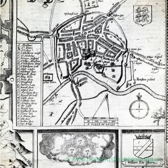 Plan of Hereford city from Speeds map, 1610