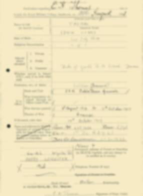 RMC Form 18A Personal Detail Sheets Feb & Sept 1933 Intake - page 292