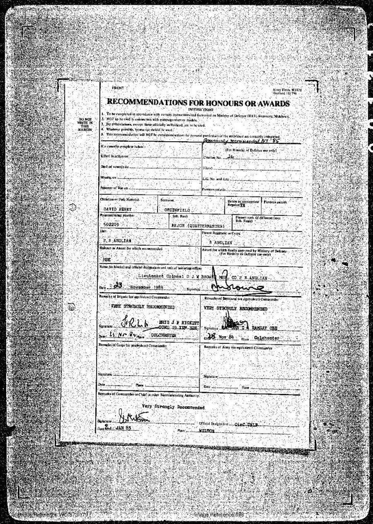 302 Greenfield MBE citation 15 Jun 85-1.jpg