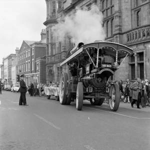 Showmen's engine at the opening ceremony of the Hereford May Fair in 1968