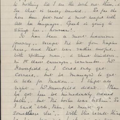 Elsie Inglis to Amy Inglis Simson - En Route to Serbia, April 1915 (Part 3)