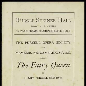 Rudolf Steiner Hall, London, June 1927