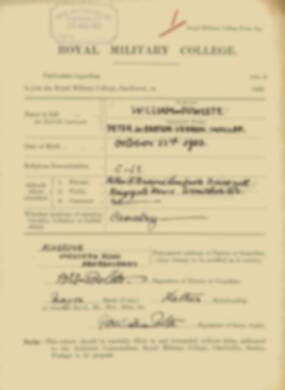 RMC Form 18A Personal Detail Sheets Feb & Sept 1922 Intake - page 312