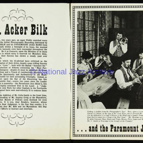 Acker Bilk and the Paramount Jazz Band, Free Trade Hall, Manchester - December 11th 1960 002