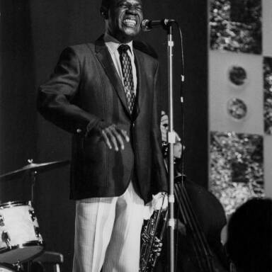 Louis Armstrong on stage, 1968.