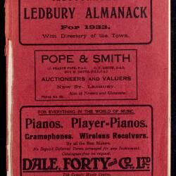 Tilley's Ledbury Almanack 1933