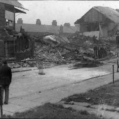 Bomb damage in Winchester Street South Shields.