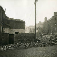 Back Oregon Street, bomb damage, blitz