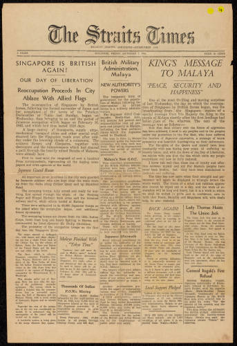 The Straits Times - Sept 1945