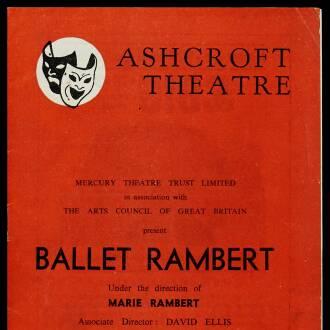 Ashcroft Theatre, Croydon, August 1963
