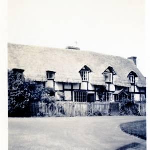 Black and white cottages at Brampton Bryan