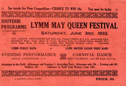 1933, Lymm May Queen Festival