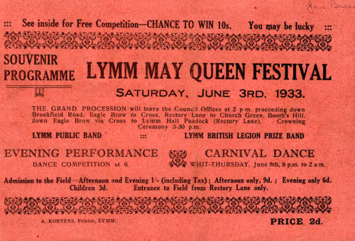 1933, Lymm May Queen Festival
