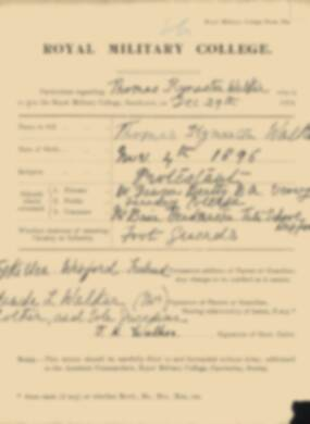 RMC Form 18A Personal Detail Sheets Jan 1915 Intake - page 367