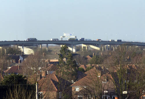 Thelwall Viaduct, panorama