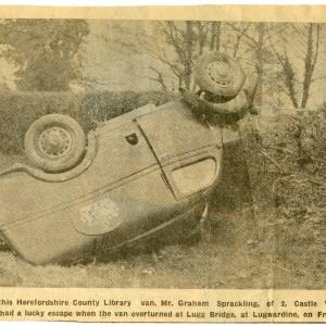 County library van accident, 13th April 1956
