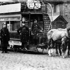 Horse-drawn tram at Tyne Dock