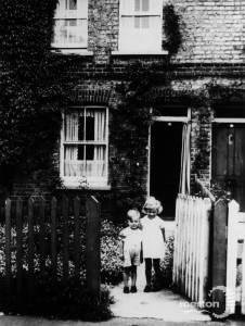 Crown Road, Morden: Barbara and Thomas Clark outside No. 26