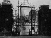Church House: 18th Century wrought iron entrance gates