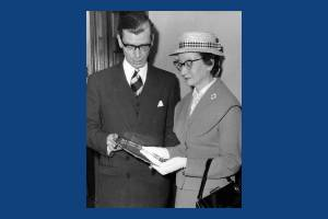 Alderman & Mrs T G Higgs, at Mitcham Town Hall.