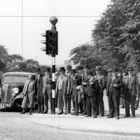 Bootle traffic lights, official launching 1933
