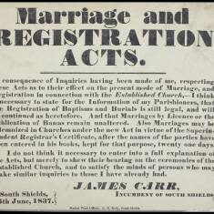 Marriage and Registration Acts