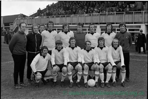 Hereford United team group, Jan 1972.
