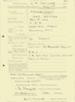 RMC Form 18A Personal Detail Sheets Aug 1935 Intake - page 209