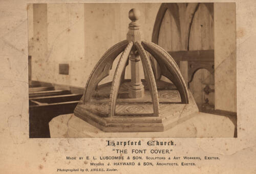 Font Cover, Harpford Church, c1885, Harpford