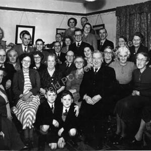 Whist Players at Mr & Mrs Williams home, Mount Road Charlton Brook December 1951