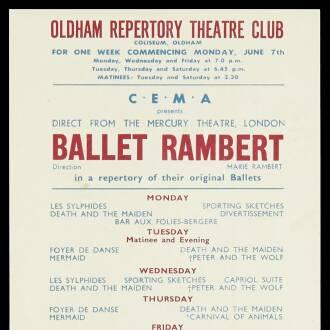 Oldham Theatre, June 1943