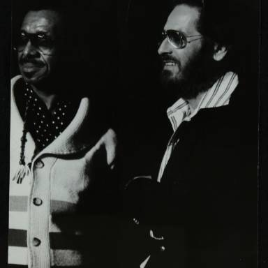Philly Joe Jones and pianist Bill Evans (left to right)