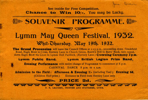 1932, Lymm May Queen Festival