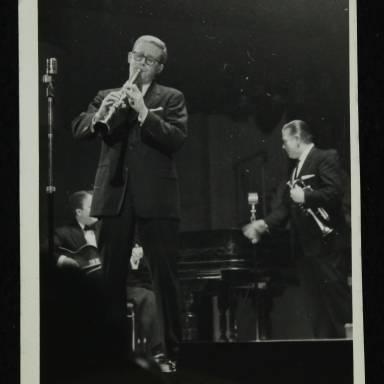 Eddie Condon, Bob Wilber and Wild Bill Davis (left to right)